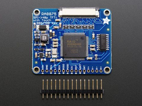RA8875 Driver Board for 40-pin TFT Touch Displays - 800x480 Max