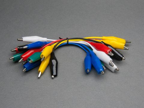 Short Wire Alligator Clip - 5 inch - Set of 12