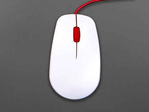 Official Raspberry Pi Mouse Red & White
