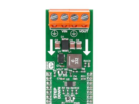 Mikroe BUCK click - DC to DC Step Down Switching Regulator with 40V Max Input Voltage