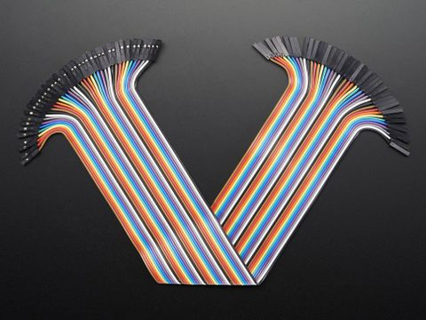 "Premium Female/Female Jumper Wires - 40 x 12"" (300mm)"