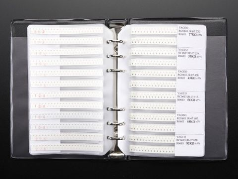 SMT 0603 Resistor and Capacitor Book - 3725 pieces