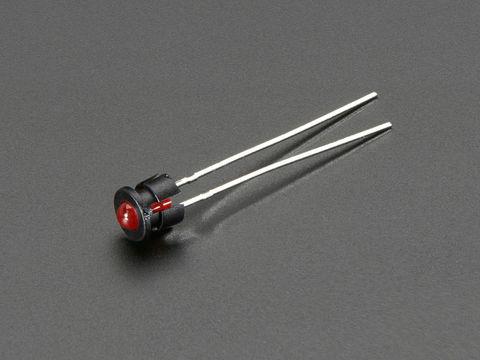 Plastic Bevel 3mm LED Holder - 5 Pack