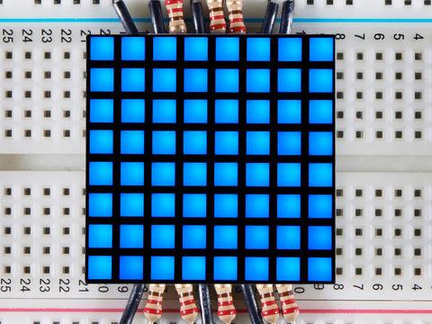 "1.2"" 8x8 Matrix Square Pixel - Blue"