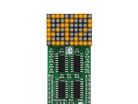 Mikroe 7x10 Y click - Yellow LED Dot Matrix Display