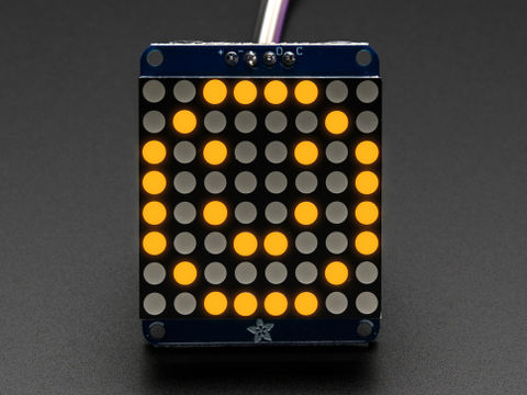 Adafruit Mini 8x8 LED Matrix w/I2C Backpack - Yellow