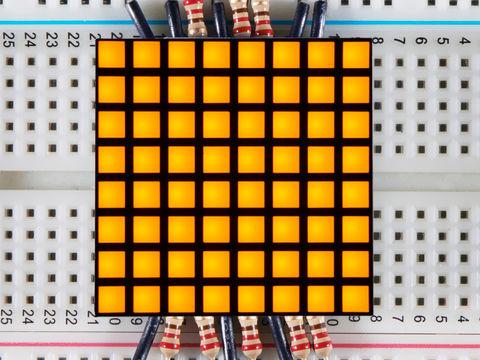 "1.2"" 8x8 Matrix Square Pixel - Yellow - KWM-R30881CUYB"