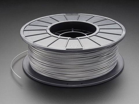 PLA/PHA Filament for 3D Printers - 1.75mm Diameter - 1KG - Silver