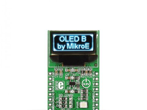 Mikroe OLED B click - 96 x 39px Blue Monochrome Passive Matrix OLED Display