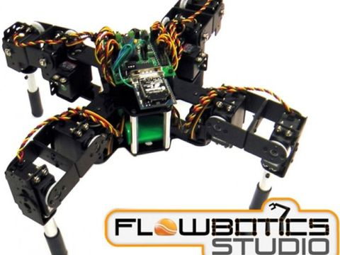 Lynxmotion Symmetric Quadruped Kit (FlowBotics Studio)