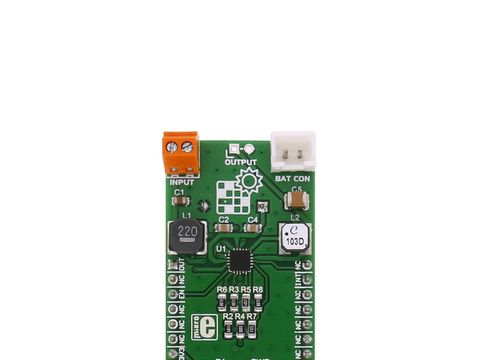 Mikroe Solar Energy Click w/ Boost LiPo Charger and Buck Converter Device - BQ25570