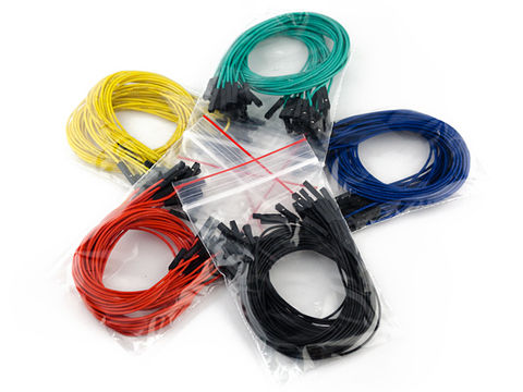 "Jumper Wires Premium 12"" Female to Female Pack of 100"