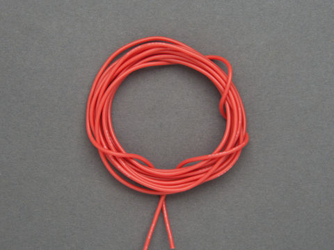 Super Flexible Stranded Core Red Silicone Cover Wire - 2m 26AWG