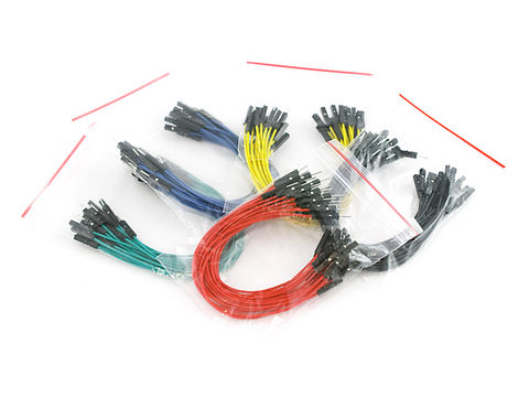 "Jumper Wires Premium 6"" Male to Female Pack of 100"