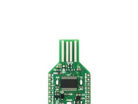 Mikroe USB UART 4 click - USB to asynchronous serial data (UART) interface - FT232RL