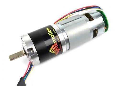 Lynxmotion 12V 20 rpm 323 96oz-in 1:99 5 Brushed DC Gear Motor w/ Encoder