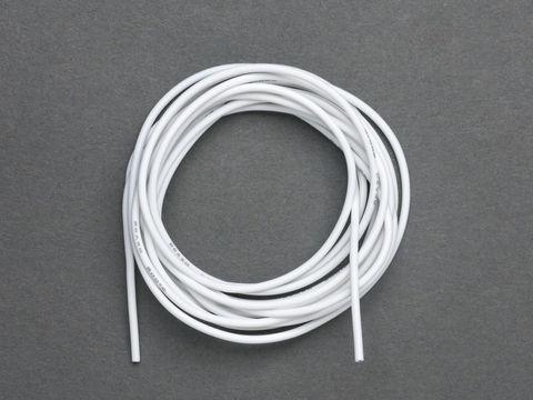Super Flexible Stranded Core White Silicone Cover Wire - 2m 26AWG