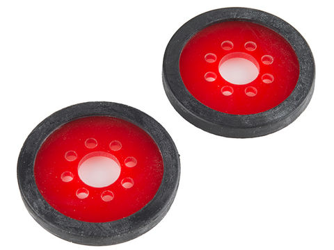 "Precision Disc Wheel - 2"" (Red, 2 Pack)"