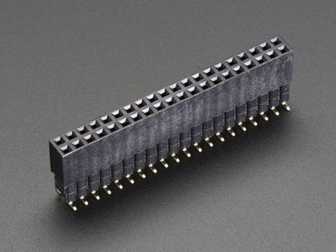 Extra-tall SMT GPIO Header for Raspberry Pi HAT - 2x20 Extra Tall Female Header