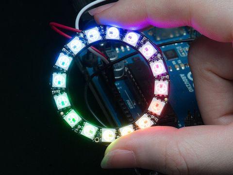 Adafruit NeoPixel Ring - 16 RGB LEDs