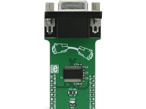 Mikroe RS232 2 click - RS232 to UART Converter w/ DE-9 Connector - MAX3237E