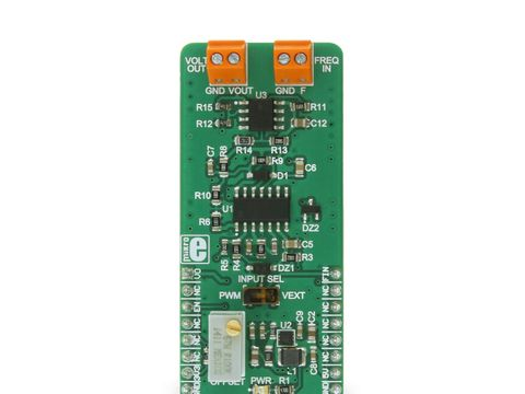 Mikroe Hz To V click - Frequency to Voltage Converter - TC9400