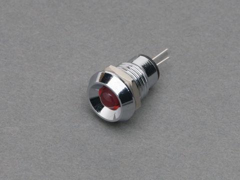 Chromed Metal Wide Concave Bevel 5mm LED Holder Pack of 5