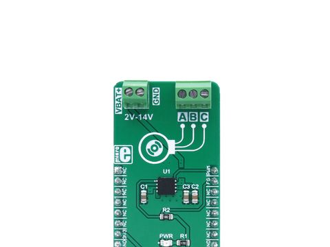 Mikroe Brushless 4 click - 3 Phase Sensorless BLDC Motor Driver - MCP8063