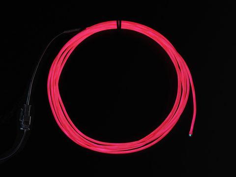 High Brightness Pink Electroluminescent (EL) Wire - 2.5 meters - High brightness, long life