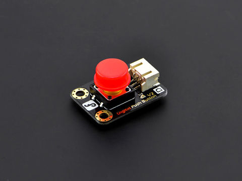 DFRobot Gravity: Digital Push Button (Red)-DFRobot
