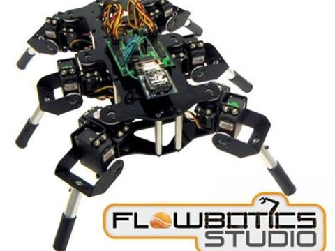 Lynxmotion Mini-Hex Hexapod Kit MH2F (FlowBotics Studio)