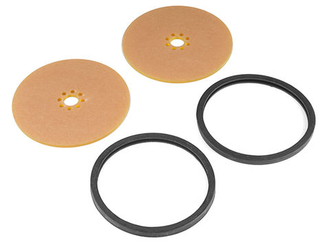 """Precision Disc Wheel - 4"""" (Clear Yellow, 2 Pack)"""