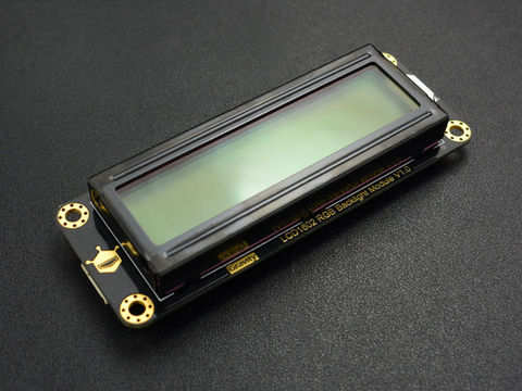 DFRobot Gravity: I2C 16x2 Arduino LCD with RGB Backlight Display