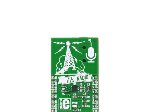 Mikroe RadioStation click - FM Transmitter 76MHz to 108MHz - Si4713-B30