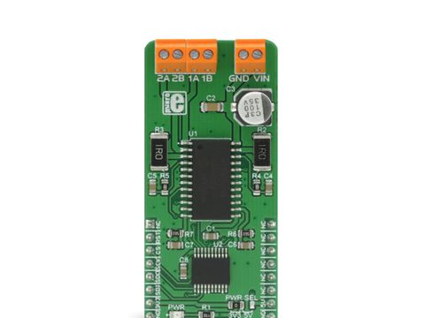 Mikroe Stepper 7 click - H-Bridge Bipolar Stepper Motor Driver - MTS62C19A