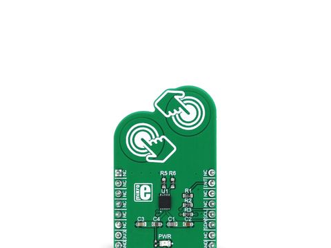 Mikroe ProxFusion click - Multifunctional Capacitive touch and Hall-effect Sensor - IQS624