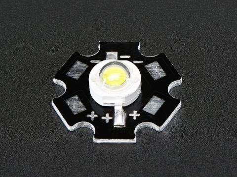1 Watt Cool White LED - Heatsink Mounted