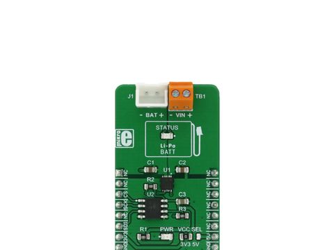 Mikroe Charger 5 Click - 3.7V Li-Po/Li-Ion Single Cell Charger - MCP73113