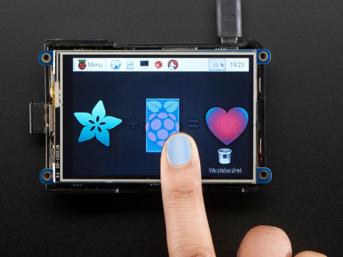 "PiTFT Plus 480x320 3.5"" TFT Touchscreen for Raspberry Pi 2/3, B+ or A+"