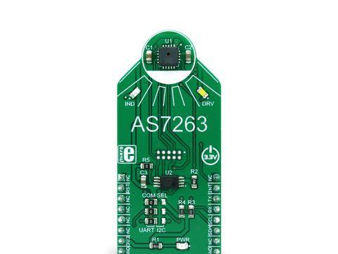 Mikroe Spectral 3 click - AS7263 - 6 Channel Near IR (NIR) Sensor w/ Electronic Shutter