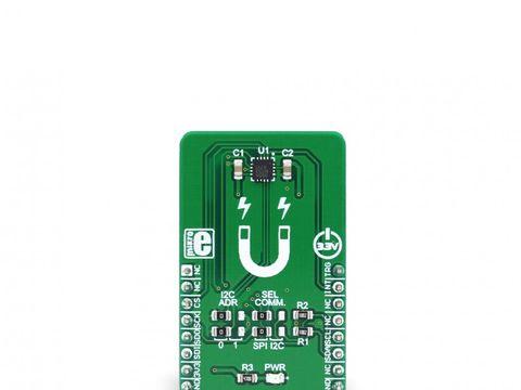 Mikroe Gaussmeter Click - Melexis MLX90393 Magnetometer - Magnetic & EMF Sensor