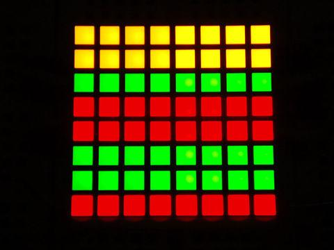 """Small 1.2"""" 8x8 Bi-Color (Red/Green) Square LED Matrix"""