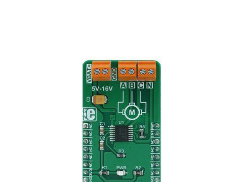 Mikroe Brushless 5 click - 3 Phase Sensorless BLDC Motor Controller - A4941