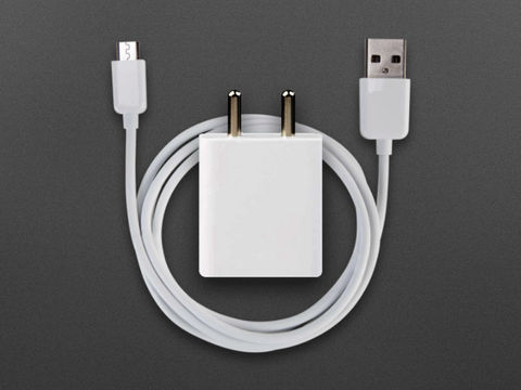 5V 2.4A (12W) Power Adapter with Micro USB Cable