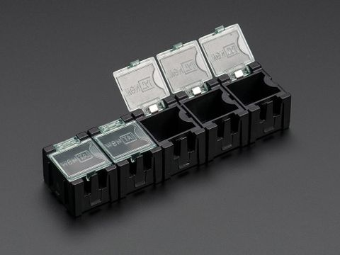 Antistatic Modular Snap Boxes - SMD component storage - 5 pack - Antistatic