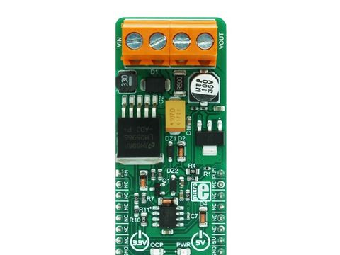 Mikroe VREG 2 click - Voltage Regulator IN 10V - 35V & OUT 2.5V - 15V with Max Current 600mA