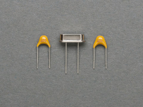 16MHz Crystal + 2 x 20 pF Ceramic Capacitors