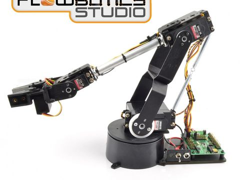 Lynxmotion AL5D 4DOF Robotic Arm SSC-32U Combo Kit (FlowBotics Studio)