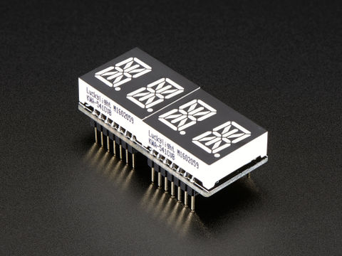 "Adafruit 0.54"" Quad Alphanumeric FeatherWing - Yellow/Green"