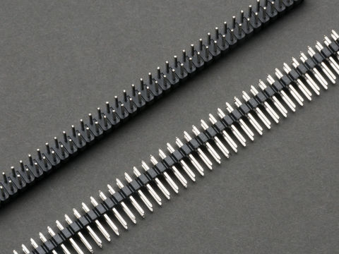 2 Row Breakaway Male Headers - 40 pins - 2.54mm - 2 pieces
